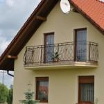 Dom-Bud Koronowo - balustrada balkonowa ozdbna kuta szeroka 2