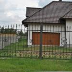 Dom-Bud Koronowo - ogrodzenie stalowe wjazdowe kute